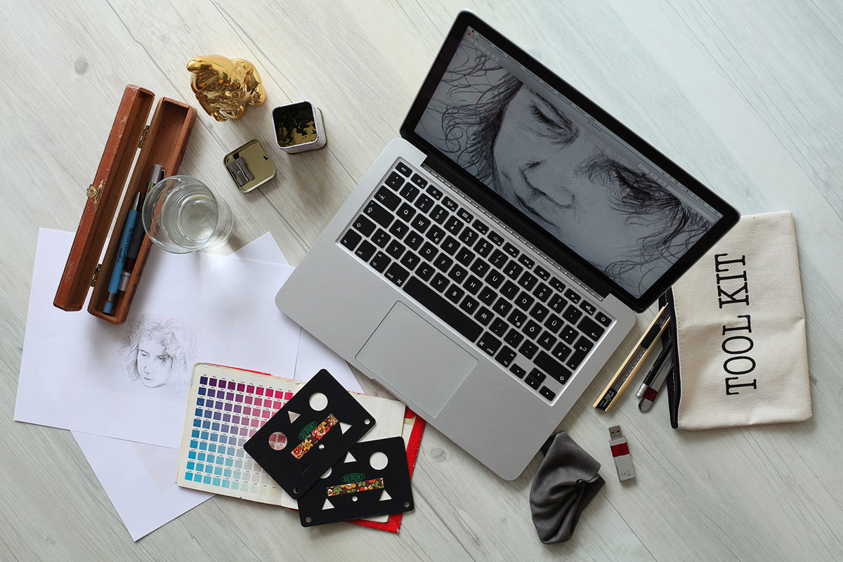 Canva - Gray Laptop Computer Turned-on